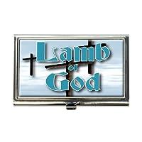 Lamb of God Three Crosses Heavenビジネスクレジットカードホルダーケース