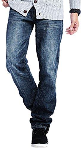 2カラー デニムパンツ メンズ ジーンズ ウォッシュデニム ストレート ZIPポケット 605565 ベストマート