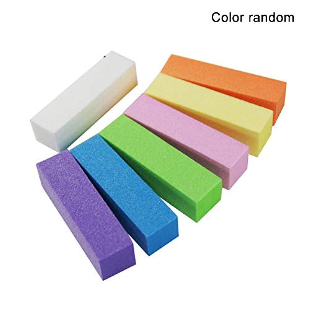 ピークログ扇動BETTER YOU (ベター ュー) ランダムな色 豆腐の四角いブロック 高発泡 スポンジ セット ネイルツール つめ用のやすり 10個入れ