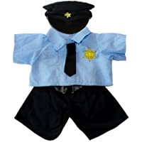Policeman Uniform Outfit Teddy Bear Clothes Fits Most 14 - 18 Build-A-Bear, Vermont Teddy Bears, and Make Your Own Stuffed Animals by Stuffems Toy Shop