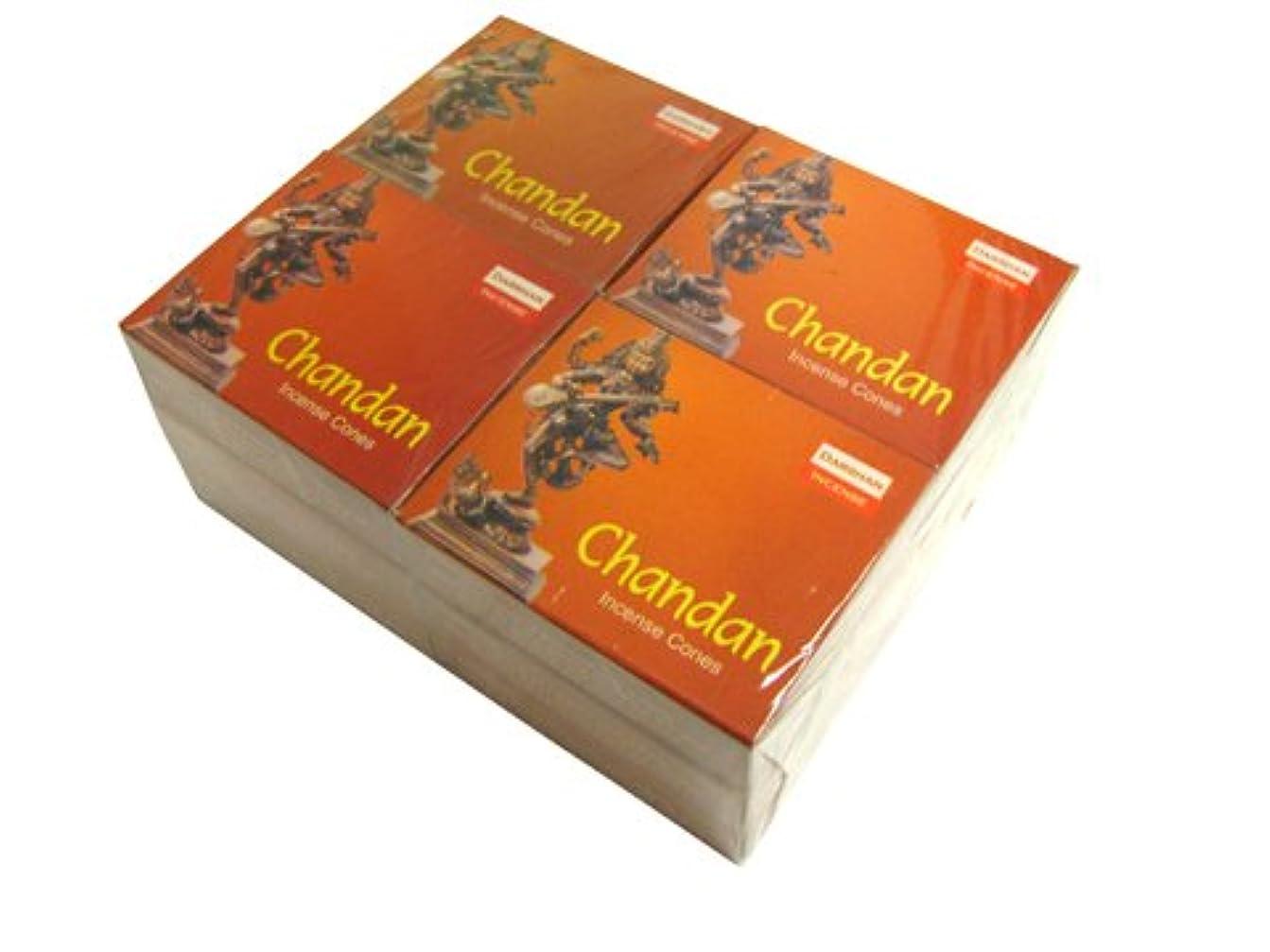 洗う急ぐ人形DARSHAN(ダルシャン) チャンダン香 コーンタイプ CHANDAN CORN 12箱セット