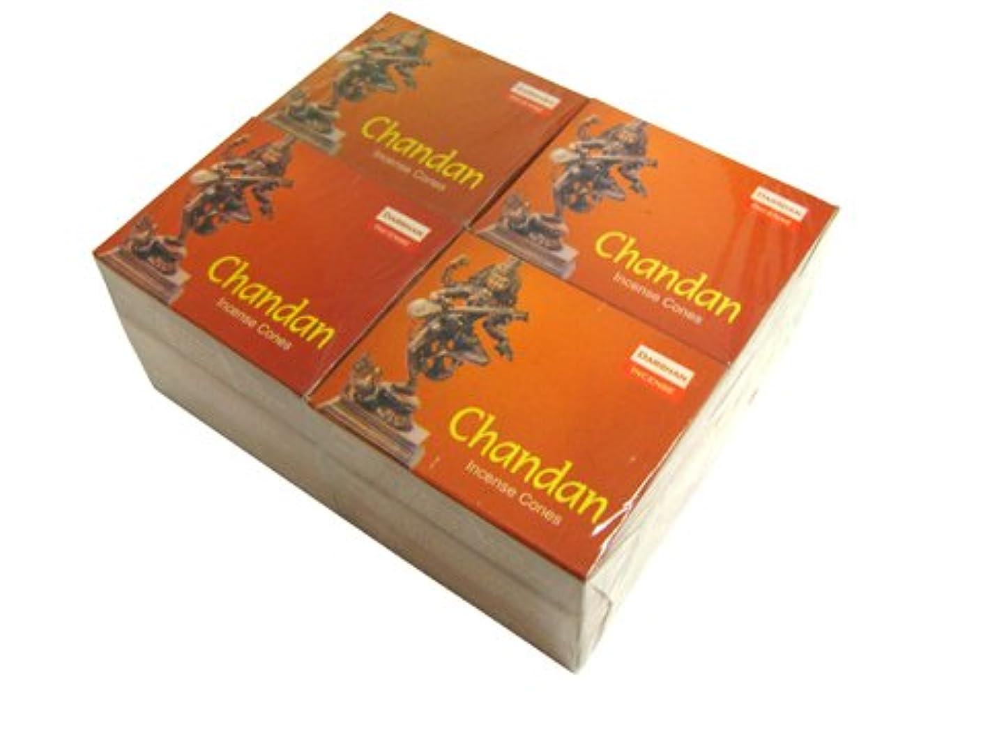 列挙するソケット開始DARSHAN(ダルシャン) チャンダン香 コーンタイプ CHANDAN CORN 12箱セット