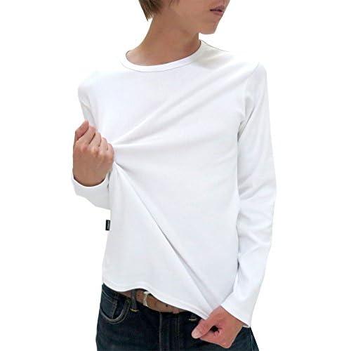 (アヴィレックス) AVIREX Tシャツ メンズ ブランド 長袖 クルーネック 無地 リブ 秋 4color M ホワイト