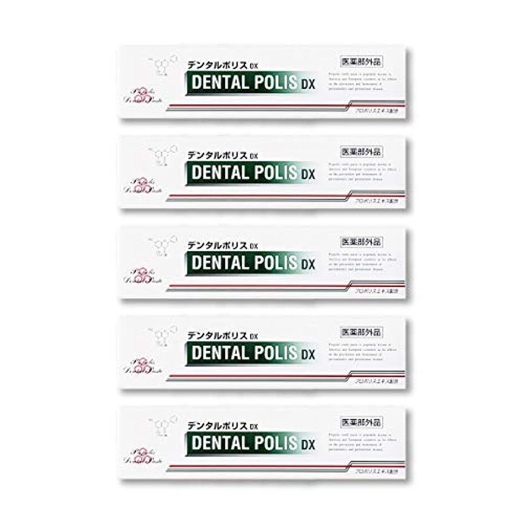 分析的文字限りなくデンタルポリスDX  80g   5本セット 医薬部外品  歯みがき