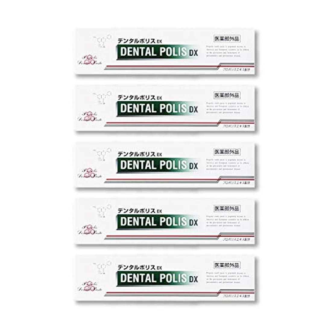 ゴミ甘くする部分デンタルポリスDX  80g   5本セット 医薬部外品  歯みがき