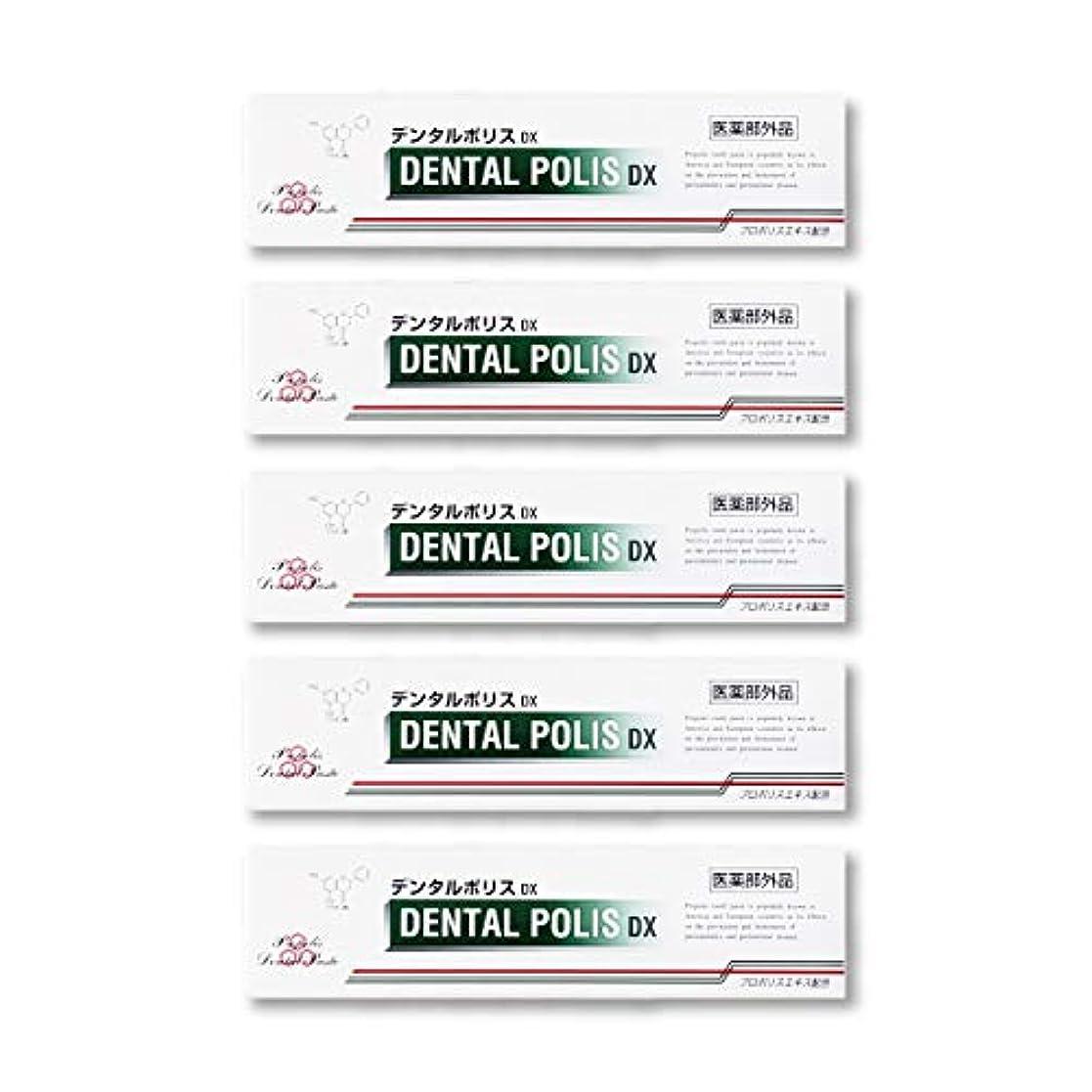 不忠邪悪な相反するデンタルポリスDX  80g   5本セット 医薬部外品  歯みがき