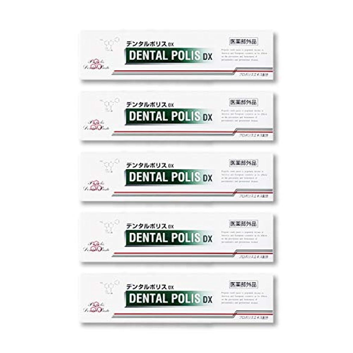 焦げ間違っている出発デンタルポリスDX  80g   5本セット 医薬部外品  歯みがき