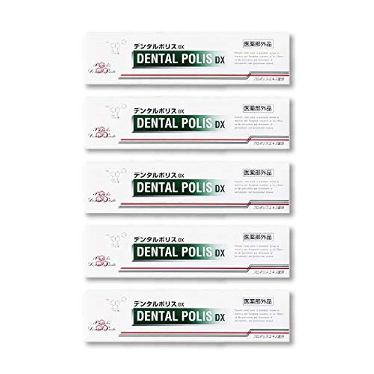 泣く適用する修復デンタルポリスDX  80g   5本セット 医薬部外品  歯みがき