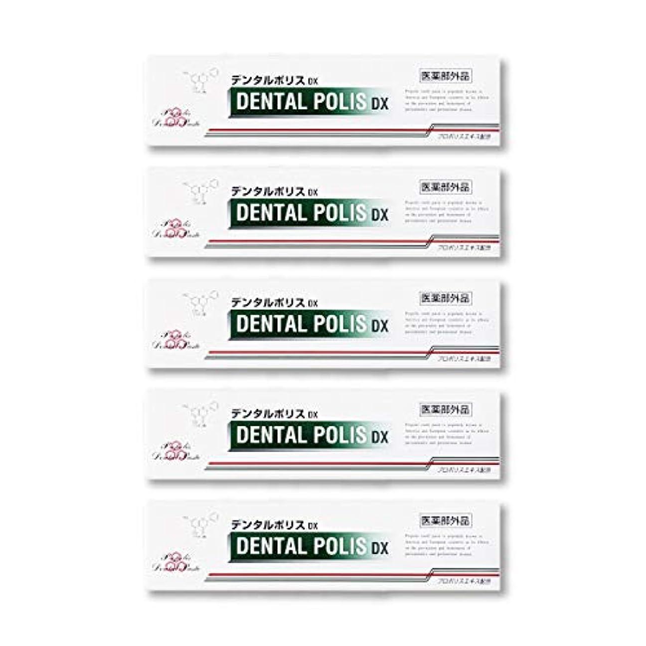 熱意鳥受け入れたデンタルポリスDX  80g   5本セット 医薬部外品  歯みがき