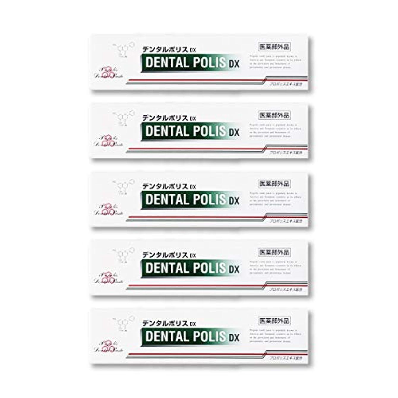 ステーキ充電バリケードデンタルポリスDX  80g   5本セット 医薬部外品  歯みがき