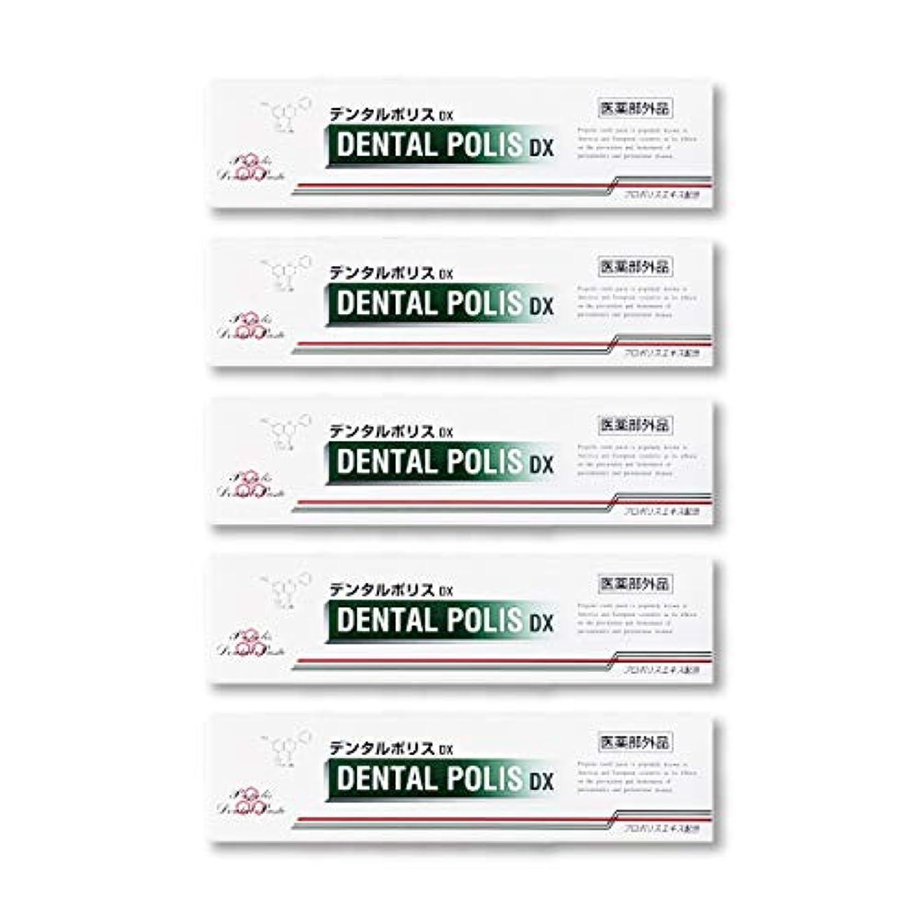 強盗脅かす覆すデンタルポリスDX  80g   5本セット 医薬部外品  歯みがき