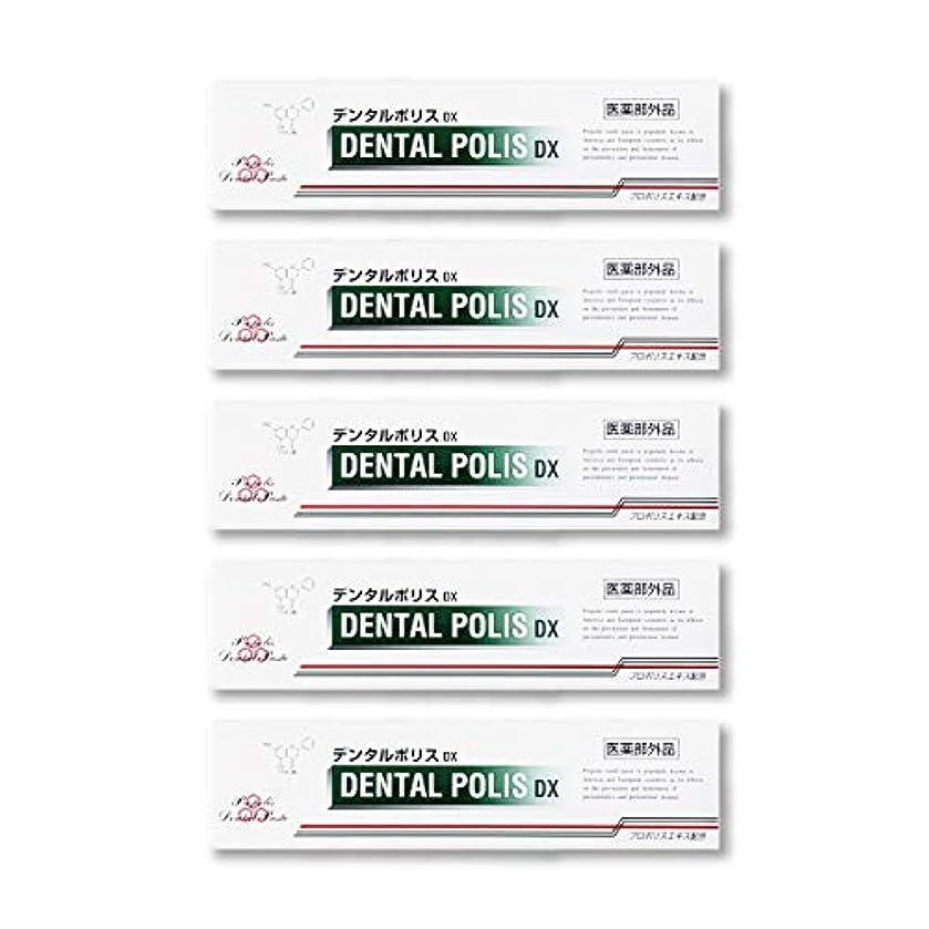 姓軽減反対にデンタルポリスDX  80g   5本セット 医薬部外品  歯みがき