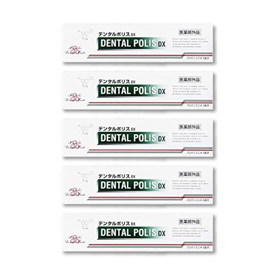 保安間接的ほとんどないデンタルポリスDX  80g   5本セット 医薬部外品  歯みがき
