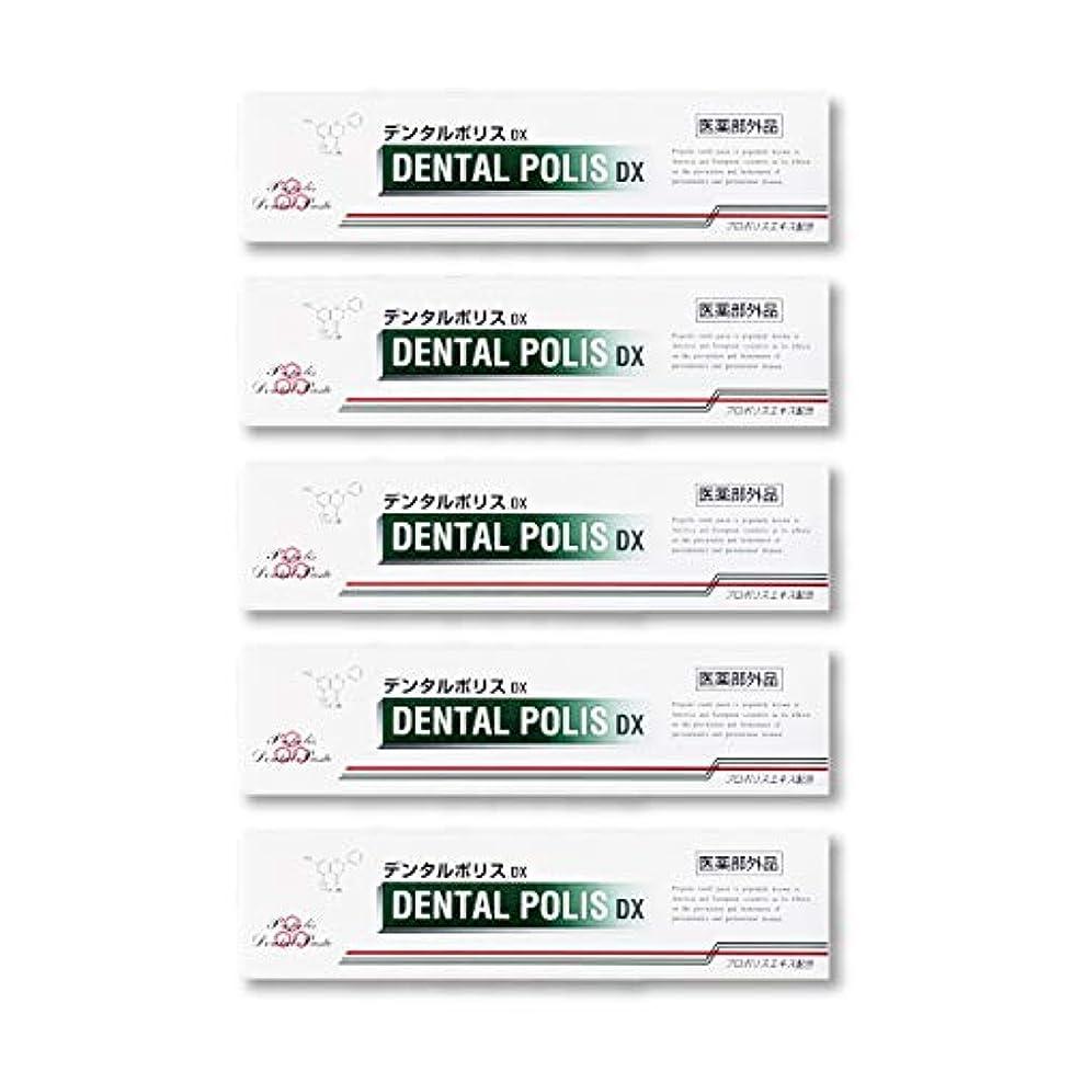 軽蔑する正規化打ち上げるデンタルポリスDX  80g   5本セット 医薬部外品  歯みがき