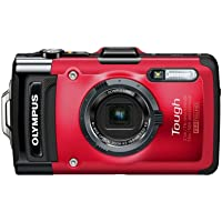 Olympus Stylus Tough TG-2 iHS - Digital camera - compact - 12.0 MP - 4 x optical zoom - underwater up to 45 ft - red