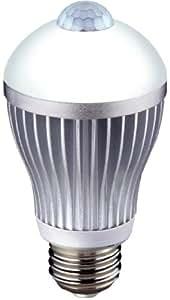 ムサシ RITEX 人センサー付LED電球 60型 【昼白色】 口金直径26mm  S-LED60N