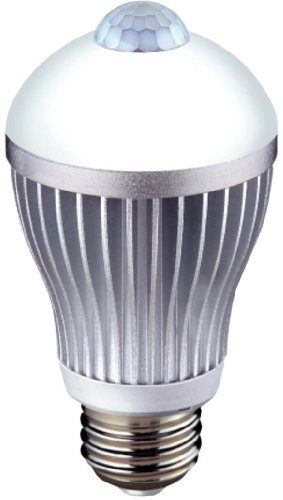 ムサシ RITEX 人センサー付LED電球 60型 【昼白色】 E26口金 S-LED60N