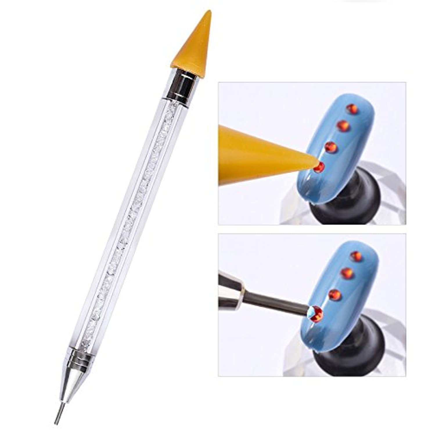 捕虜ひまわり溢れんばかりのLiebeye ネイルペン 豪華 耐久性 ダブルヘッドポイント 掘削 ペン マニキュアツール