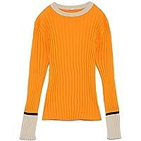 [ミラ オーウェン] セーター カラーブロックリブニットトップス