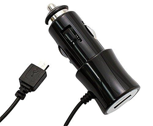 車載シガーソケット用DC充電器 スマートフォン/microUSB携帯電話対応ブラック エアージェイ DKJ-SDXB