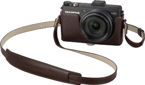 OLYMPUS デジタルカメラ XZ-1専用本革ボディジャケット&ストラップ ブラウン CSCH-97 BRW