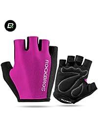グローブ 手袋 ハーフフィンガー サイクル スポーツ ピンク ROCKBROS(ロックブロス)