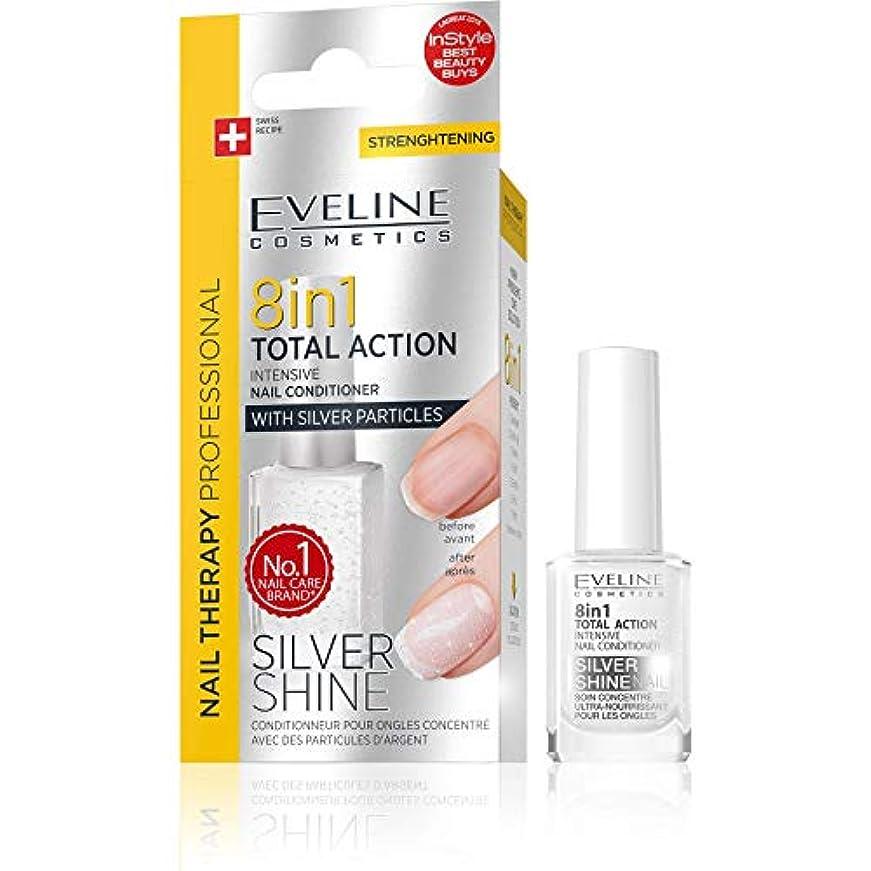 コークスインセンティブに付けるEveline Cosmetics 8 in 1 Total Action Silver Shine - Intensive Nail Conditioner with Silver Particles [並行輸入品]