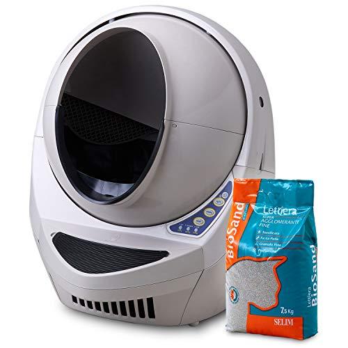 【Amazon.co.jp限定】キャットロボット オープンエアー (Cat Robot Open Air) + セリームバイオサンド グリーン セット リッターロボット 3 日本正規販売店 保証書付き(1年) 日本語説明書付き 自動 ネコトイレ 大きめ 大型 本体 全自動 猫トイレ 自動 清潔 旅行 サイズ(約) 【外寸】幅62×奥68×高さ74cm 【入り口】幅26×高さ46cm
