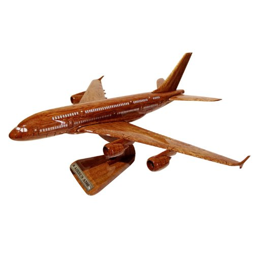 MocPro木製エアプレーンモデル ハンドメイド木製飛行機模型 エアバス380