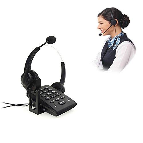 [해외]VINSOO 콜센터 유선 전화 다이얼 패드 전화기 (더블 이어폰 포함) 노이즈 캔슬링 헤드셋~ PC 녹음 기능이 사무실과 작업 환경에 최적/VINSOO Call center Wired phone dial pad telephone (with double earphone) Noise canceling head set~ PC reco...