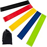 Newdora Resistance Bands Skin-Friendly Exercise Bands with 5 Different Resistance Levels Workout Resistance Bands Ideal for Strength Training,Yoga,Pilates,Fitness