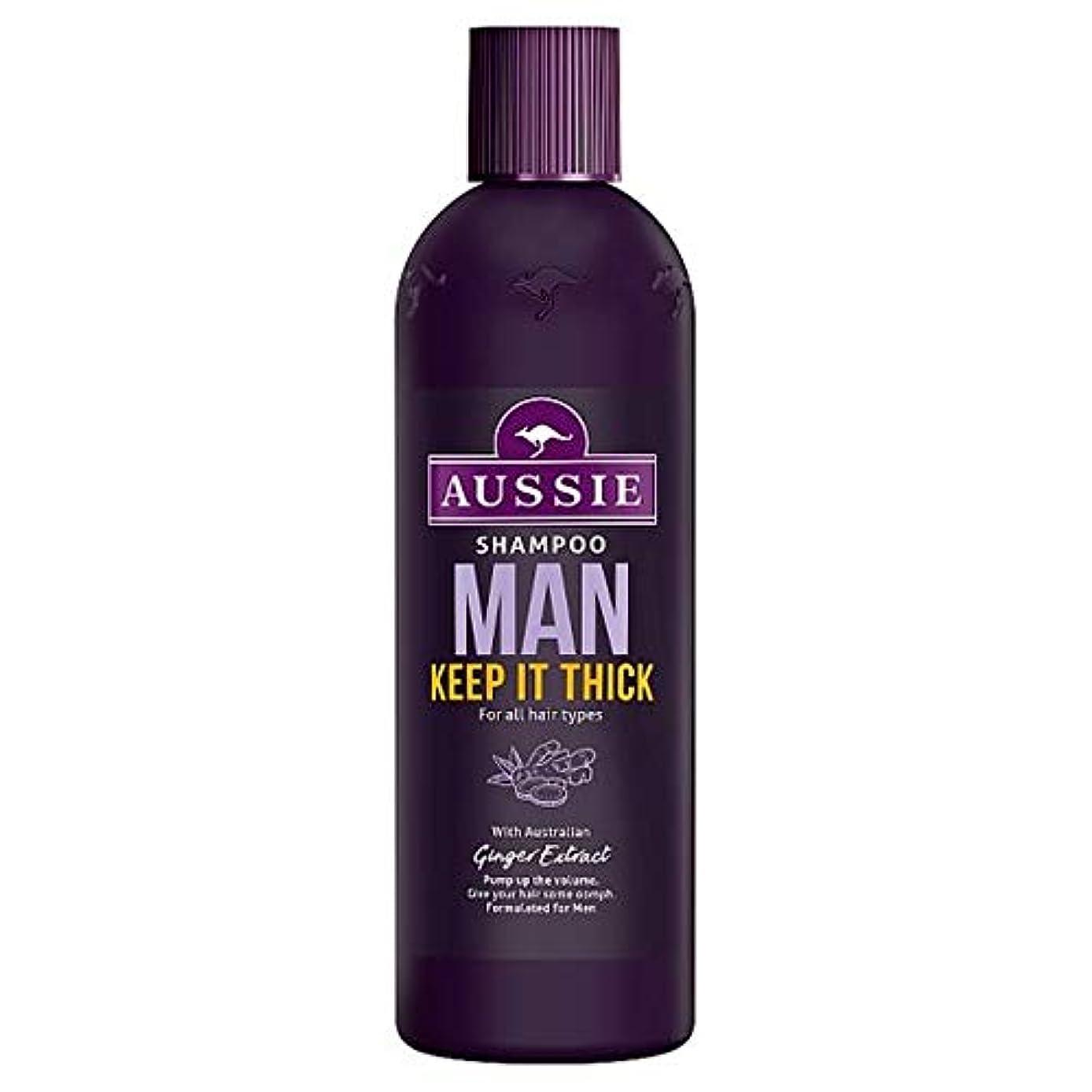 調停者ランチ経営者[Aussie] オージー男はそれ厚いシャンプー300ミリリットル保ちます - Aussie Man Keep It Thick Shampoo 300Ml [並行輸入品]