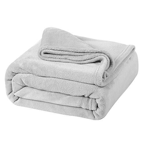 Oseamaid 毛布 マイクロファイバー シングル 140X200cm 柔軟軽量 洗濯可能 静電防止 抗菌防臭 (グレー)