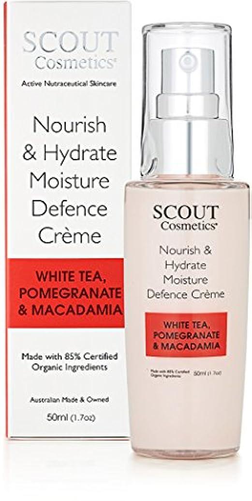 ウェーハ気球あらゆる種類のSCOUT Cosmetics Nourish & Hydrate Moisture Defence Creme with White Tea, Pomegranate & Macadamia 50ml/1.7oz並行輸入品