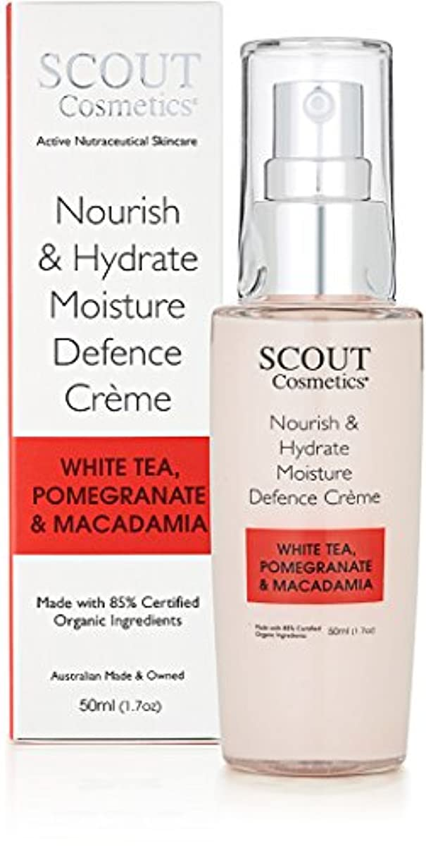 ジョージハンブリー砂漠サワーSCOUT Cosmetics Nourish & Hydrate Moisture Defence Creme with White Tea, Pomegranate & Macadamia 50ml/1.7oz並行輸入品