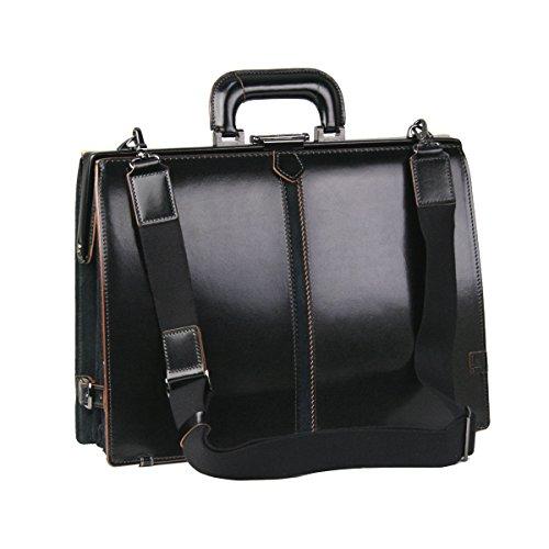 (ファイブウッズ) FIVE WOODS TED'S テッズ 「ACCORDION DULLES BAG」 アコーディオン ダレスバッグ (本革) ブラック 日本製 メンズ バッグ 39013 bg3532