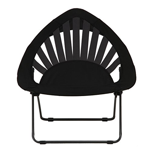 不二貿易 デザイン バンジーチェア 室内/アウトドア 折畳み式 ブラック 33982