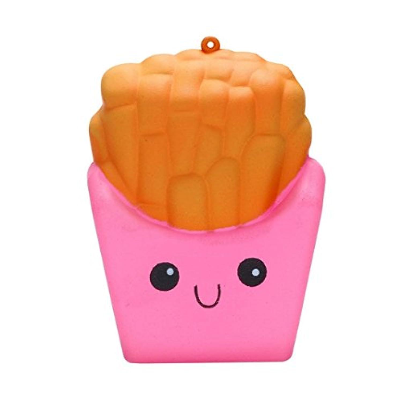 cloudro Squishies Slow Risingおもちゃ、Squishiesジャンボ動物香りつきKawaii Food Squishy男の子女の子パーティーギフト応力Relieverのおもちゃ、かわいいFrench Fries マルチカラー 703486635123
