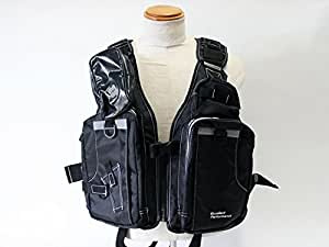 フィッシング用ライフジャケット ゲームフローティングベスト エクセル NF-2200 ブラックホワイト