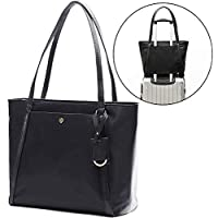 Laptop Bag for Women by Miss Fong,Womens Tote Bag Fits 15.6 Inch Laptop and Tablet,Nylon Tote Bag with In Bag Organizer and RFID Blocking Wallet Pocket