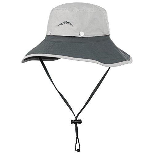 VBIGER 釣り 帽子ガーデニングハット園芸 農作業 ハイキング アウトドア 紫外線対策日よけ 取り外し可能