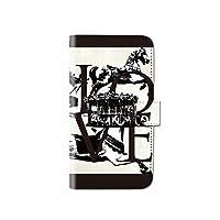 LG style L-03K レトロ モノトーン アンティーク スマホケース 手帳型 マグネット式 カード収納 dy001-00056-05 L-03K(LG style):M