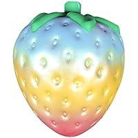 ジャンボSquishies Slow Risingボール、レインボーストロベリークリーム香りつきSquishy Stress Relief Fruit Food Kawaii人形楽しいおもちゃの贈り物キッズ大人用パーティーFavors