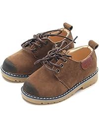 JACKSHIBO キッズ フォーマルシューズ 男の子 女の子 スエード 無地 滑り止め 子供 フォーマル 靴 A58