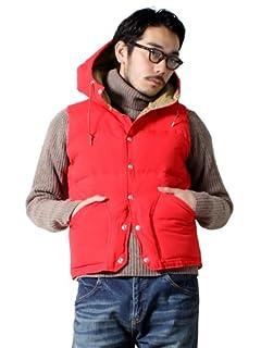 Hooded Down Vest 38-06-0057-139: Vermilion / Khaki