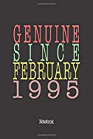 Genuine Since February 1995: Notebook