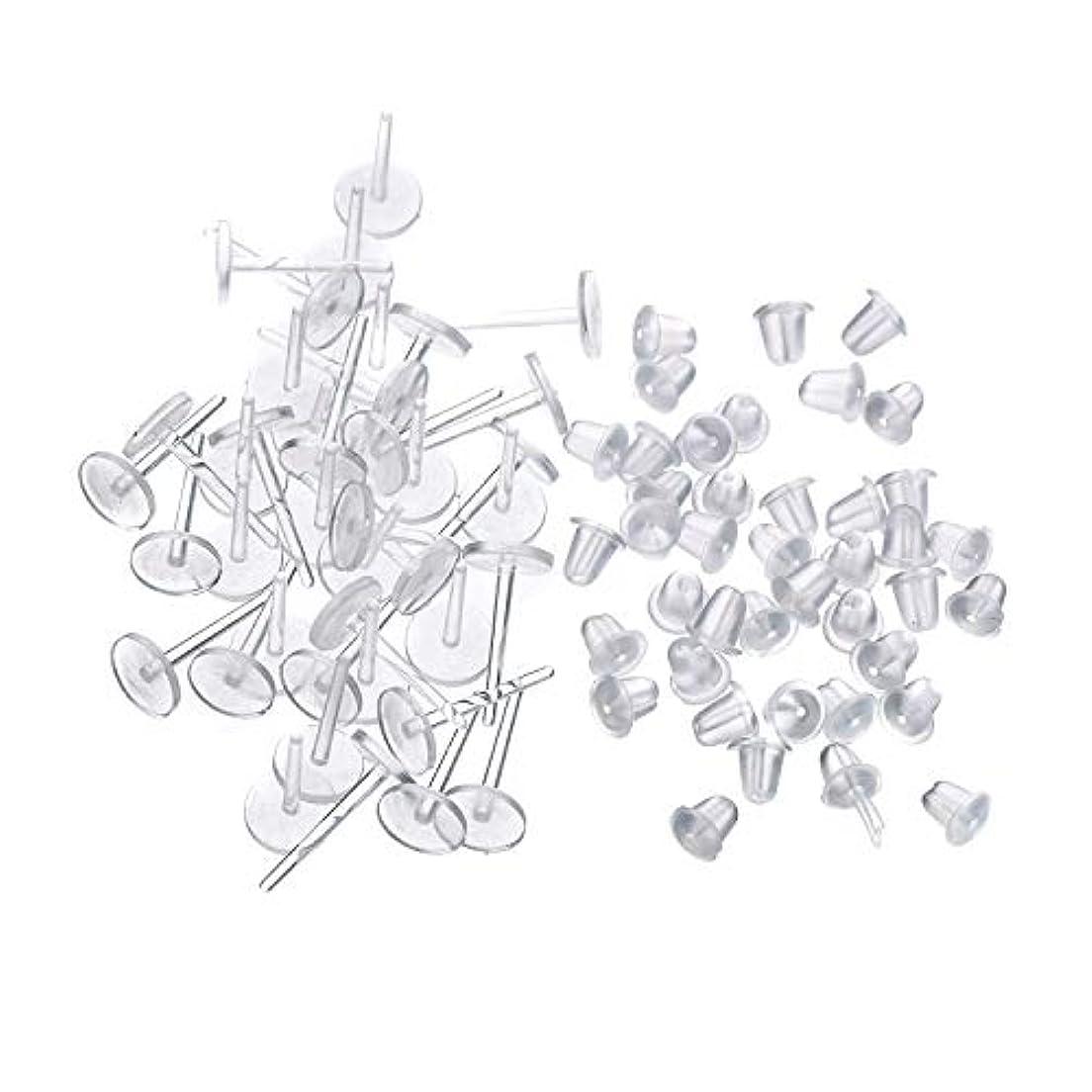 起きろ応援する故障シークレットピアス 樹脂透明ピアス 金属アレルギーフリー ピアスホール,20セット