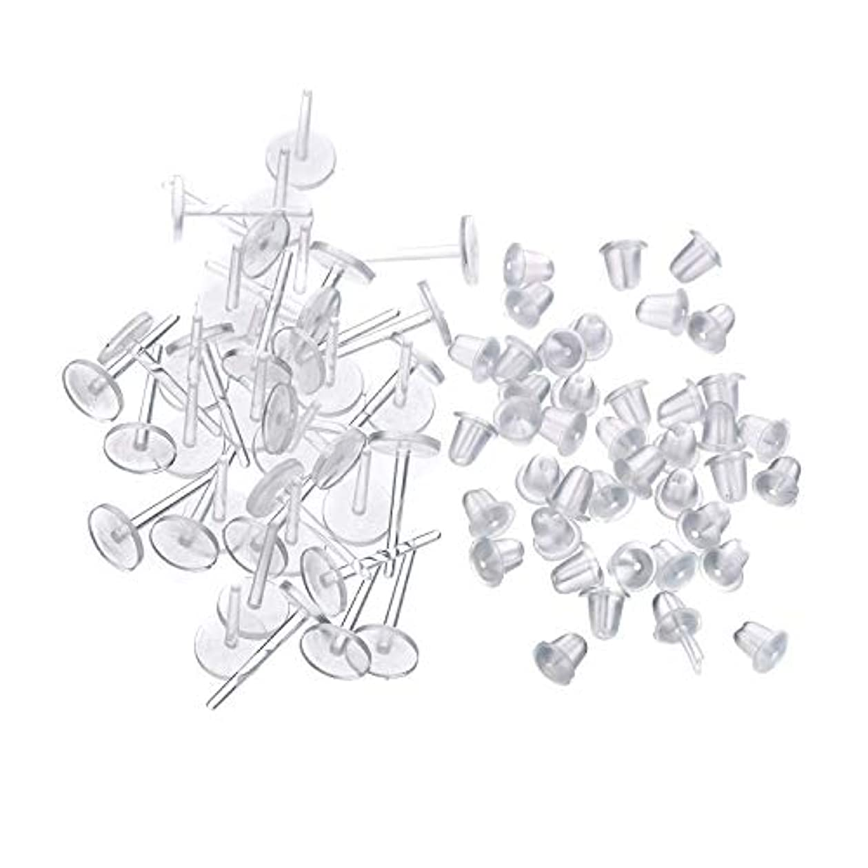 処理するライフル自発シークレットピアス 樹脂透明ピアス 金属アレルギーフリー ピアスホール,20セット