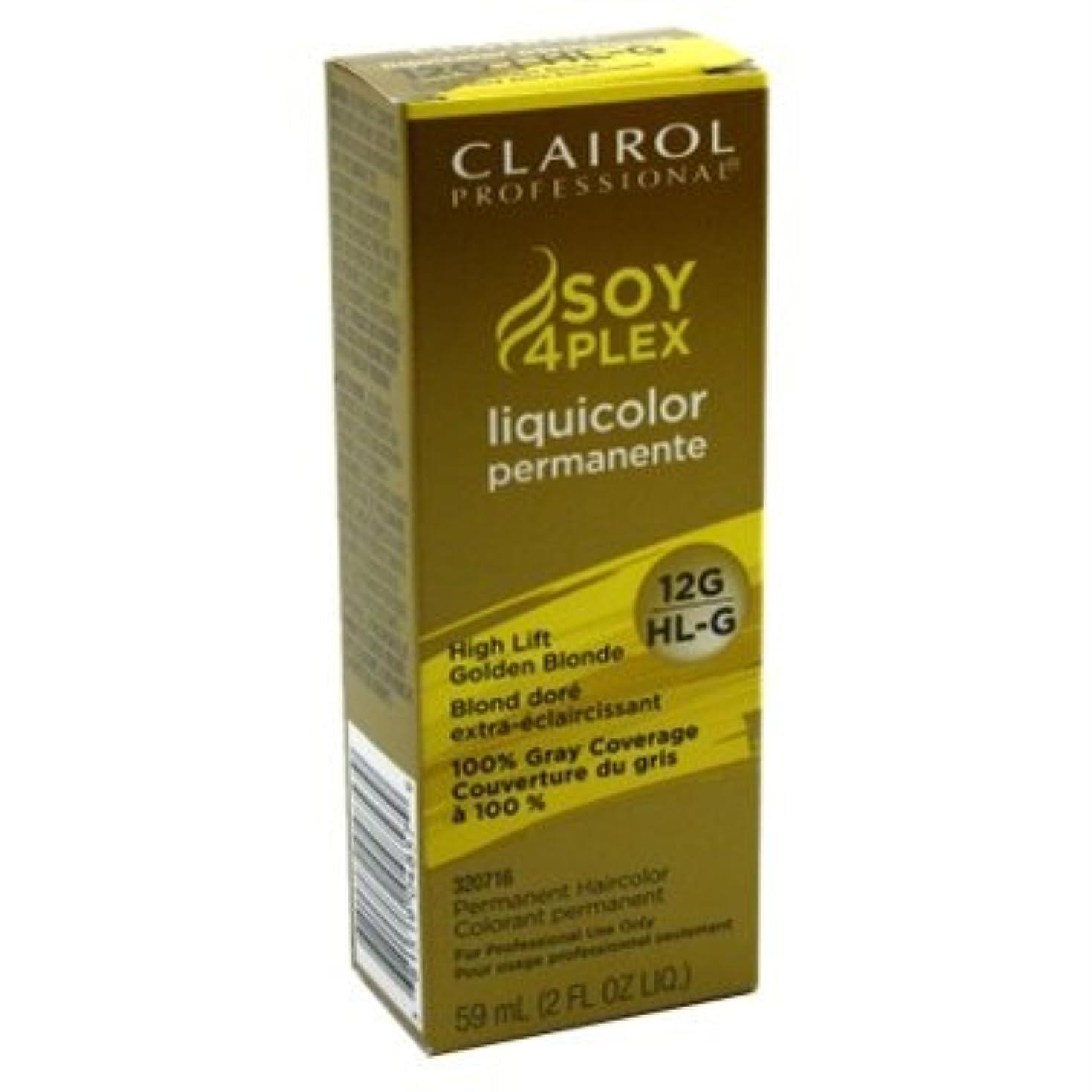 副わずかな下品Clairol プロLiquicolor永久12G / HL-G高リフトゴールデンブロンド2オンス(59Ml)(3パック)