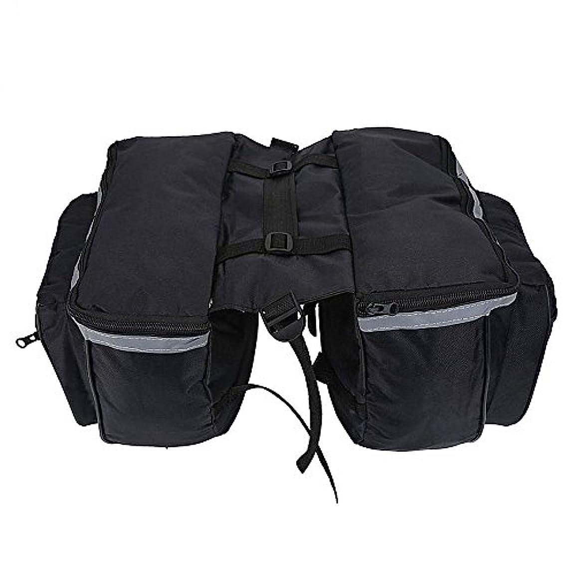 区画授業料いたずら大容量自転車荷物袋自転車防水リアバッグテールシートトランクパックマウンテンロードバイクトラベルストレージボックスアクセサリー